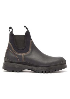 Prada Brixxen leather chelsea boots