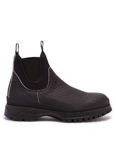 Prada Brixxen neoprene-panelled leather chelsea boots