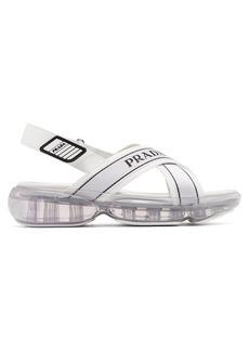 Prada Bubble-sole cross-strap slingback sandals