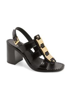 Prada Chain Block Heel Sandal (Women)