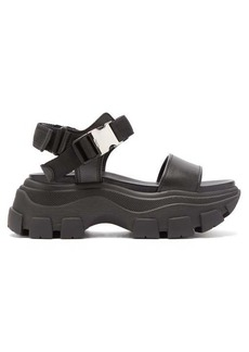 Prada Buckled leather platform sandals