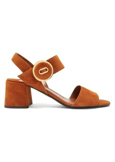 Prada Button-buckle suede sandals