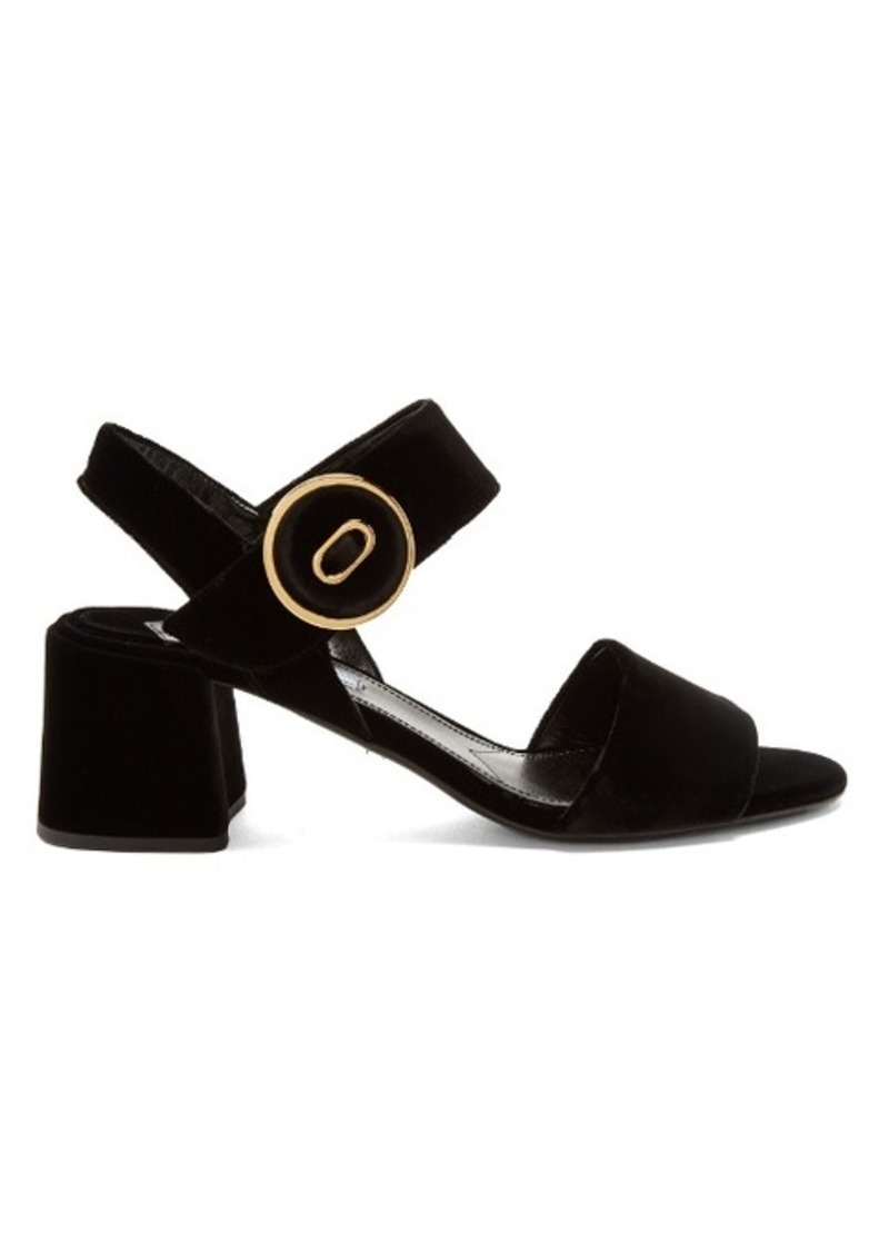 e40ffd710 Prada Prada Button-buckle velvet sandals