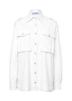 Prada Button-Detailed Cotton Shirt