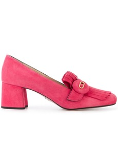 Prada button-embellished loafers - Pink & Purple