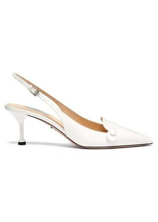 Prada Buttoned slingback leather pumps