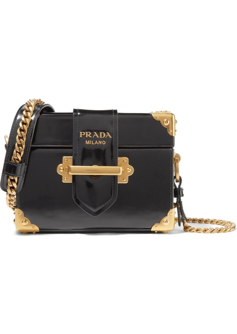 f98ac4b61cb0 Prada Prada Cahier Box patent-leather shoulder bag | Handbags