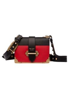 Prada Cahier City Calfskin & Saffiano Shoulder Bag (Regular Retail Price: $2,950.00)