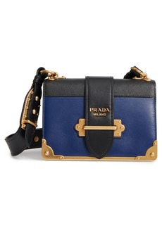 Prada Cahier City Calfskin & Saffiano Shoulder Bag