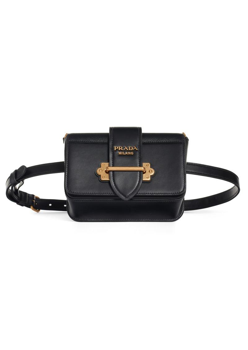 Prada Prada Cahier Leather Belt Bag  877c96516bfa5