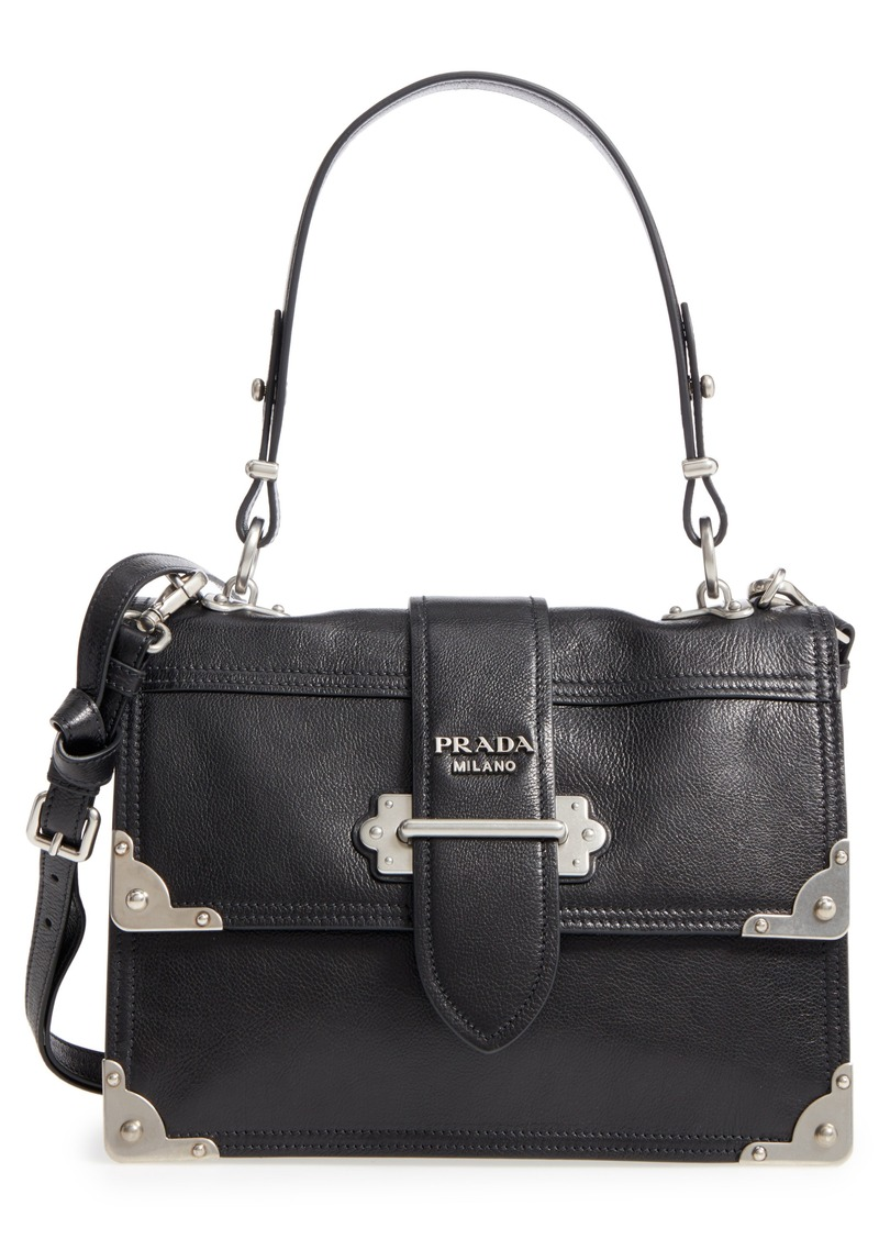 722dc5e29dee Prada Prada Cahier Leather Shoulder Bag