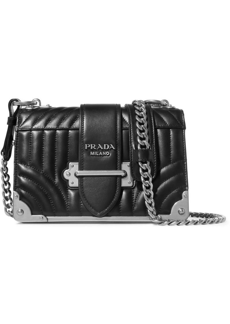 0584e1e87932 Prada Cahier Quilted Leather Shoulder Bag