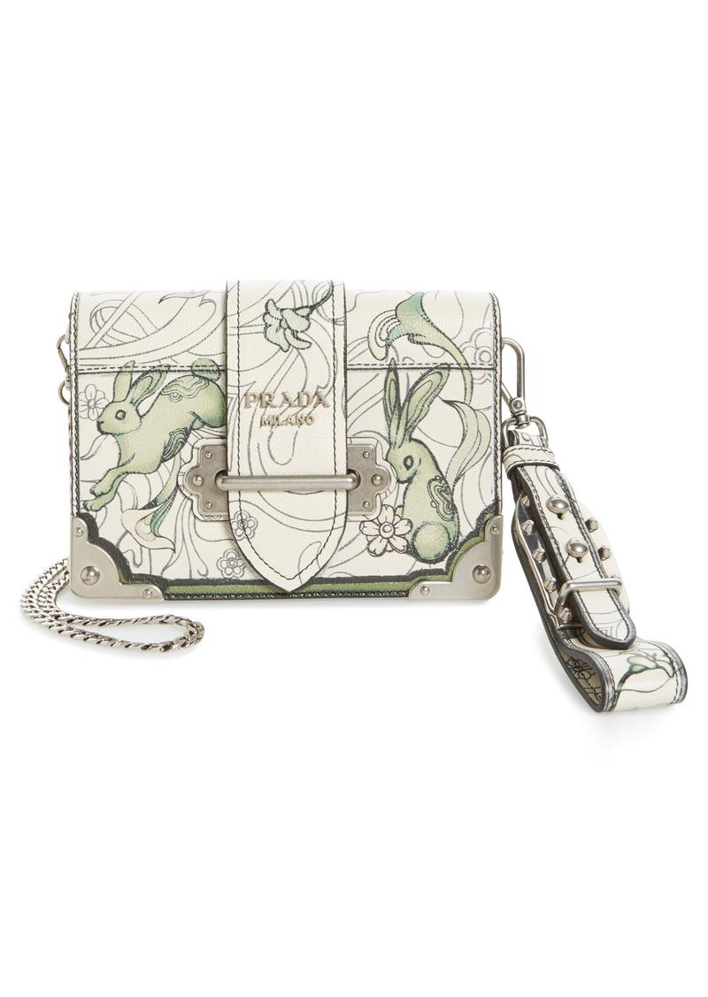 a5e1eae0a2d55b Prada Prada Small Cahier Bunny Print Bag | Handbags