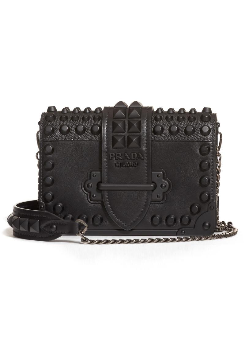 3f9221aebaf9 Prada Prada Cahier Studded Leather Crossbody Bag | Handbags