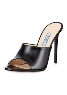 Prada Calf Leather High-Heel Mule Sandals