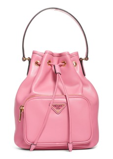 Prada Calfskin Leather Bucket Bag