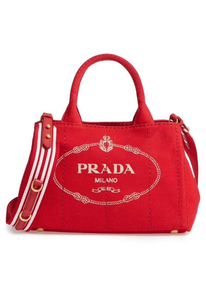 0684c17ff891 Prada Prada Canapa Logo Garde Canvas Tote   Handbags