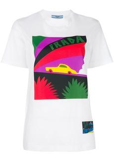 Prada logo car-print T-shirt