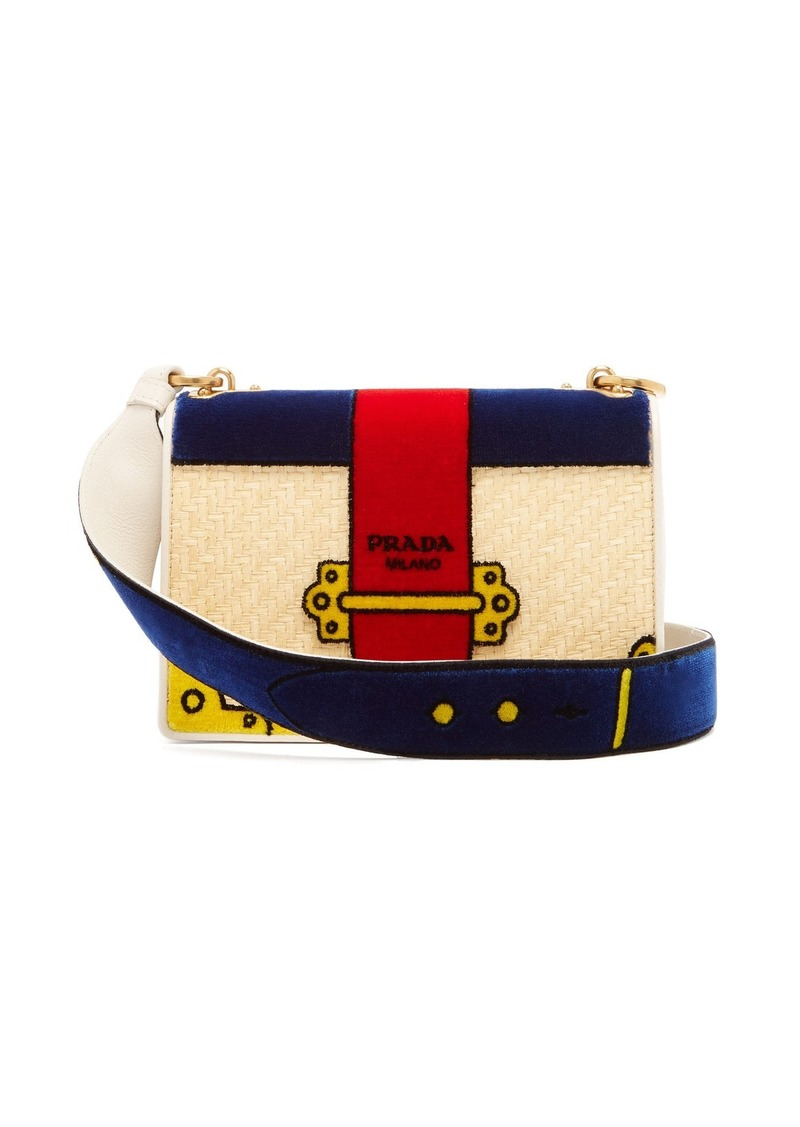 f492f6218b1d Prada Prada Cartoon velvet cross-body bag
