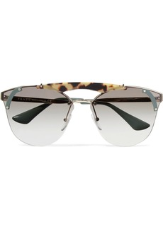 Prada Cat-eye acetate and gold-tone sunglasses