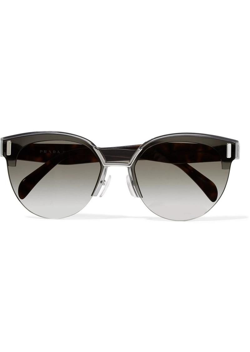 dd6056bb745 ... coupon prada cat eye acetate and silver tone sunglasses 3f8da 35adf ...