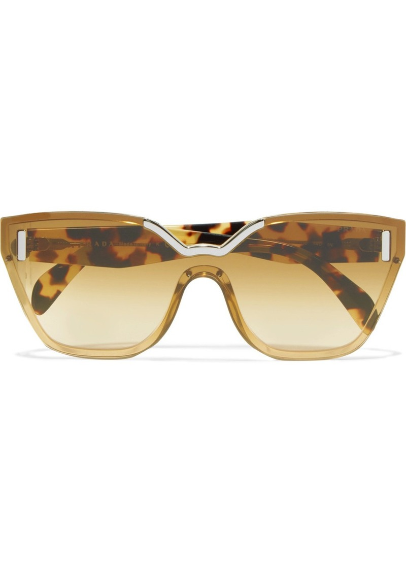 5c1bbf48cab9 sale lyst prada cat eye tortoiseshell acetate sunglasses 831e9 7924c  where  can i buy prada cat eye tortoiseshell acetate and silver tone sunglasses  b00fb ...