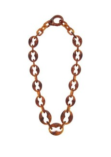 Prada Chain-link acetate necklace