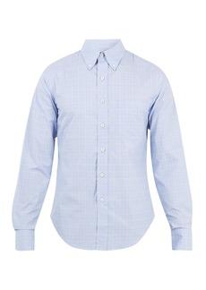 Prada Checked cotton-poplin shirt