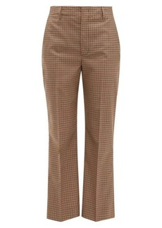 Prada Checked wool-blend trousers