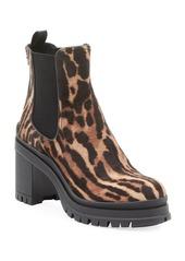 Prada Cheetah-Print Lug-Sole Boots
