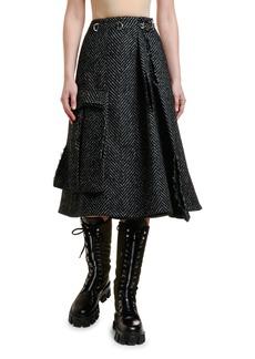 Prada Chevron Midi Skirt