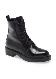Prada Chocolate Combat Boot (Women)
