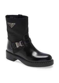Prada Chocolate Logo Harness Boot (Women)