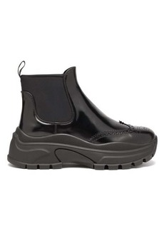 Prada Chunky-sole patent-leather ankle boots