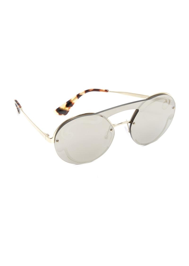 8d5093bcd83 ... buy prada cinema round brow bar sunglasses a087f f7f0e