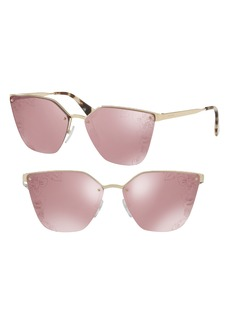Prada Cinéma 63mm Oversize Rimless Sunglasses
