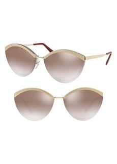 Prada Cinma Evolution 64mm Oversize Sunglasses