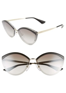 Prada Cinma Evolution 64mm Oversize Sunglasses