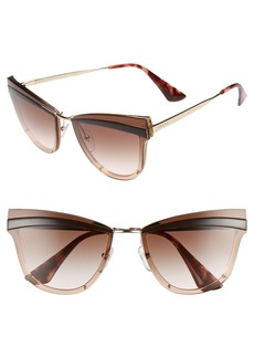 Prada Cinma Evolution 65mm Cat Eye Sunglasses
