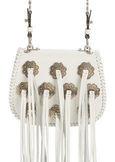 Prada City Folk Calfskin Leather Saddle Bag