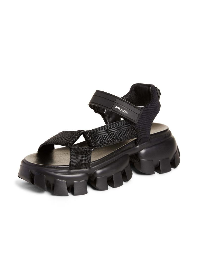 Prada Cloudburst Thunder Lugged Sport Sandal (Women)