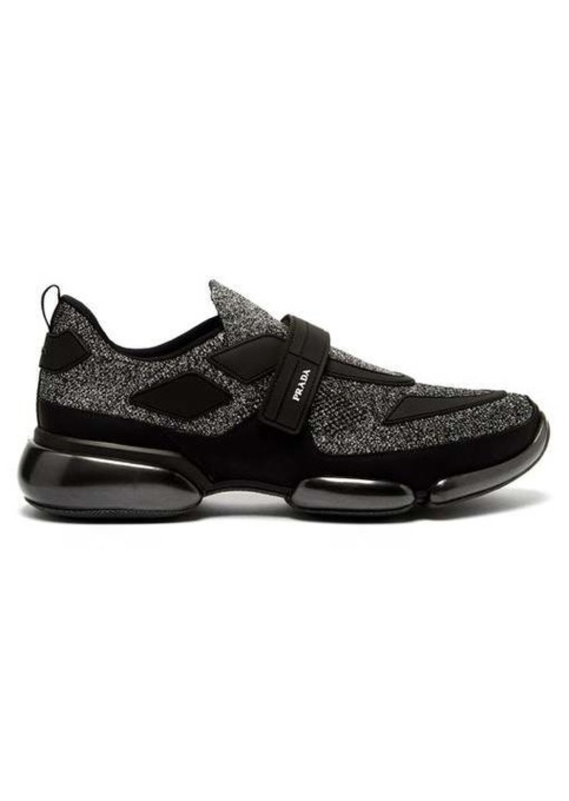 Prada Cloudbust glitter low-top mesh trainers