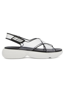 Prada Cloudbust-sole plexi sandals