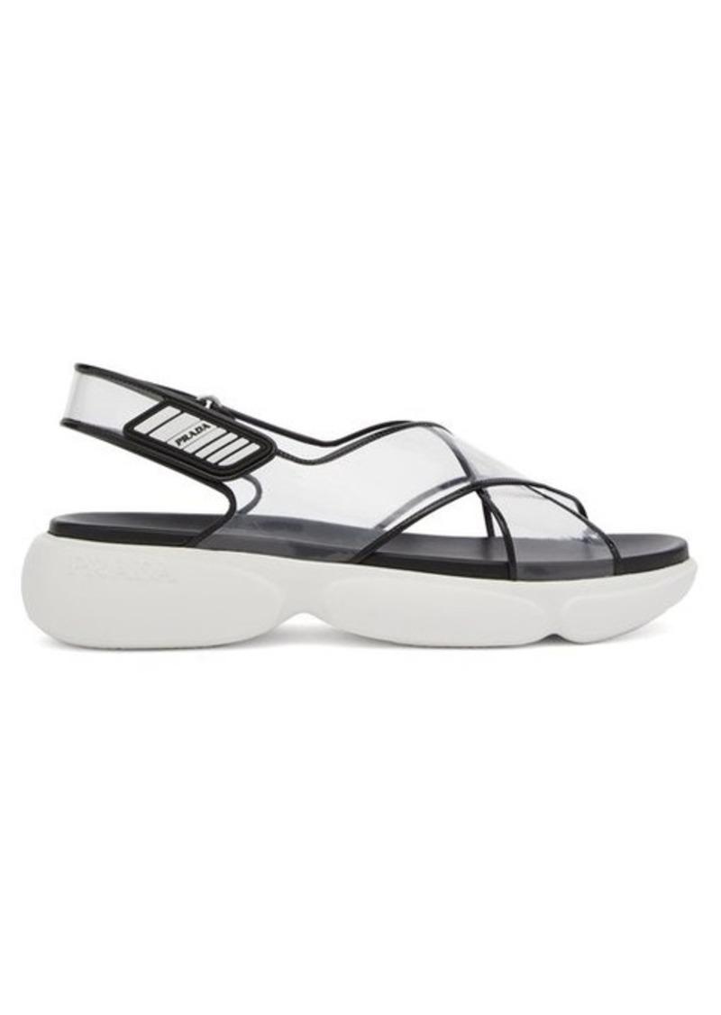 Prada Cloudbust-sole plexi sandals