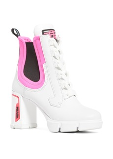 Prada Colorblock Lace-Up Boot (Women)