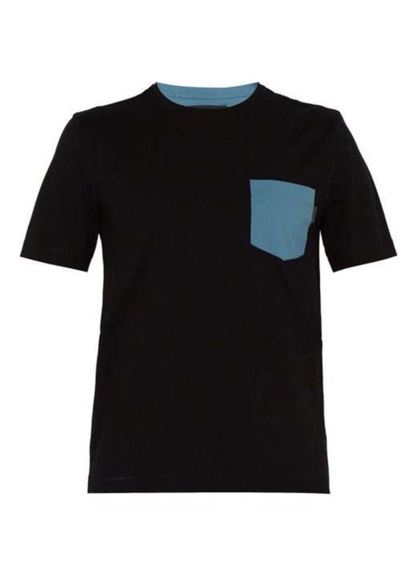 Prada Colour block cotton-blend T-shirt