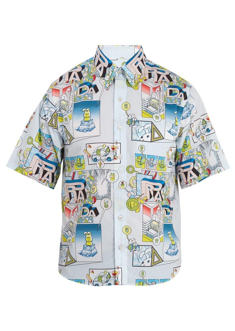 f0798619f6 Comic-print cotton-poplin shirt