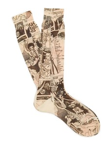 Prada Comic-print cotton socks