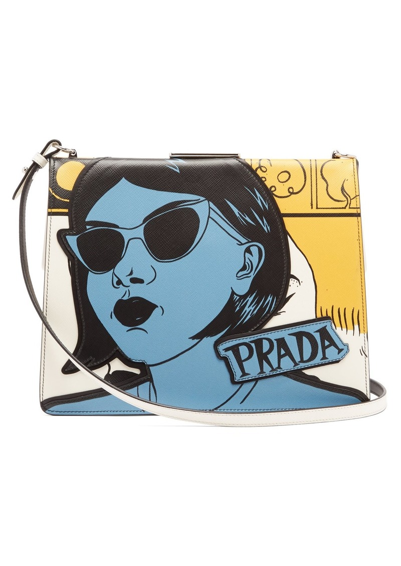 f461564faa6a9d On Sale today! Prada Prada Comic-print leather bag