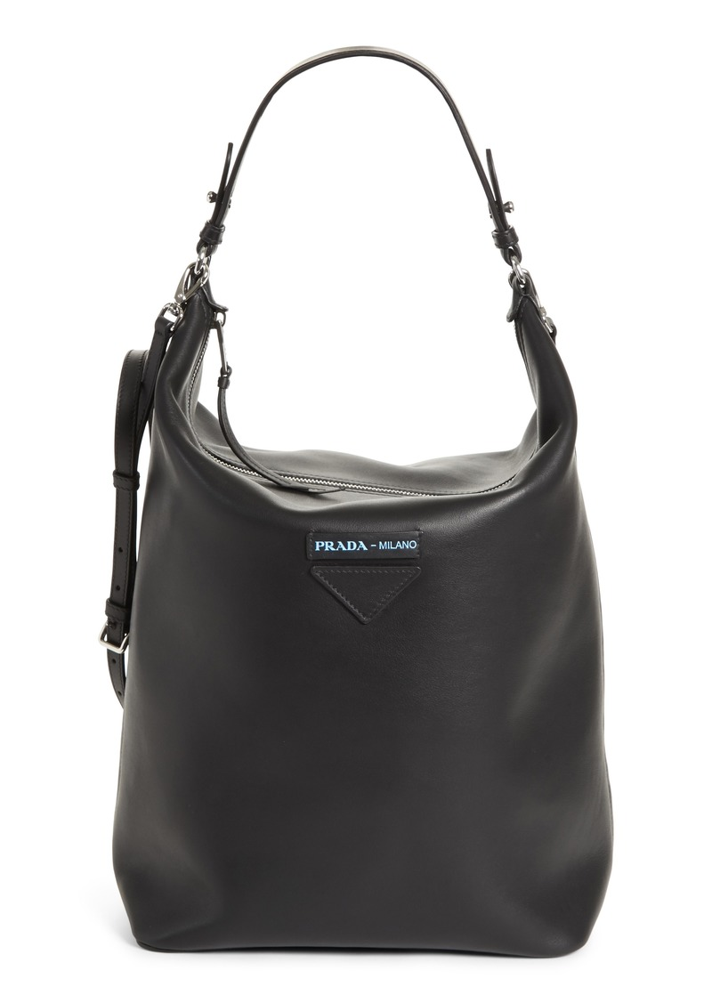 6fd8a70bef2683 Prada Prada Concept Calfskin Leather Hobo | Handbags
